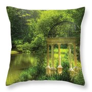 Garden - The Temple Of Love Throw Pillow by Mike Savad