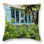 Garden Window DB Throw Pillow by Rich Franco