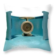 Gas Cylinder Valve Closeup Throw Pillow by Allan Swart