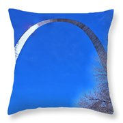 Gateway Arch St Louis 03 Throw Pillow by Thomas Woolworth