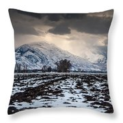 Gathering Winter Storm - Utah Valley Throw Pillow by Gary Whitton