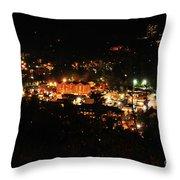Gatlinburg At Night Throw Pillow by Nancy Mueller