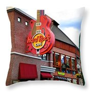 Gatlinburg Hard Rock Cafe Throw Pillow by Frozen in Time Fine Art Photography