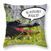 Gators Rule Greeting Card Throw Pillow by Al Powell Photography USA