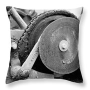 Gears Nuts And Bolts Throw Pillow by Jackie Farnsworth
