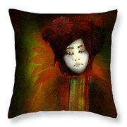 Geisha5 - Geisha Series Throw Pillow by Jeff Burgess