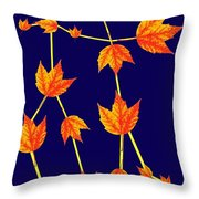Gemini Constellation Composed By Maple Leaves Throw Pillow by Paul Ge