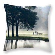 Genegantslet Golf Club Throw Pillow by Christina Rollo