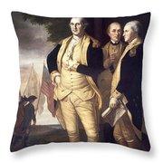 GENERALS AT YORKTOWN, 1781 Throw Pillow by Granger