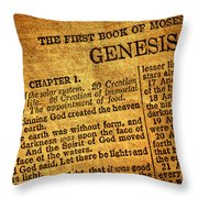 Genesis Throw Pillow by Olivier Le Queinec