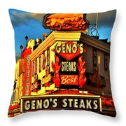Geno's Throw Pillow by Benjamin Yeager