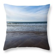 Gentle Waves Throw Pillow by Anne Gilbert