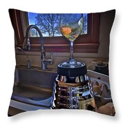 Gentlemen Start Your Blenders Throw Pillow by Mark Miller