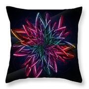 Geometric Flower  Throw Pillow by Mark Ashkenazi