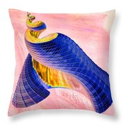 Geometric Shell Art Throw Pillow by Deborah Benoit