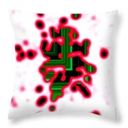 Geometric View Through The White Throw Pillow by Mario Perez