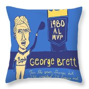 George Brett Kc Royals Throw Pillow by Jay Perkins