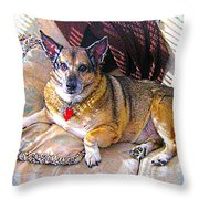 George Throw Pillow by Michael Graham