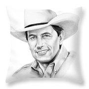 George Straight Throw Pillow by Murphy Elliott