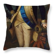 George Washington Throw Pillow by Charles Wilson Peale