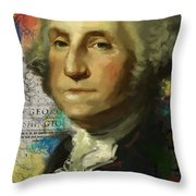 George Washington Throw Pillow by Corporate Art Task Force