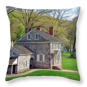 George Washington Headquarters At Valley Forge Throw Pillow by Olivier Le Queinec