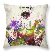 Georges St-pierre Throw Pillow by Aged Pixel