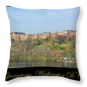 Georgetown Poster Throw Pillow by Olivier Le Queinec