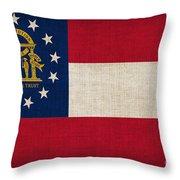 Georgia State Flag Throw Pillow by Pixel Chimp