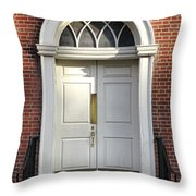 Georgian Door Throw Pillow by Olivier Le Queinec