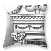Georgian Splendor Throw Pillow by Adam Zebediah Joseph