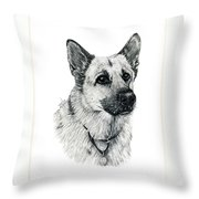 German Shepherd Throw Pillow by Terri Mills