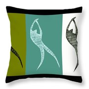 Get Moving Throw Pillow by Michelle Calkins