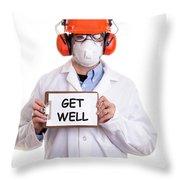 Get Well Throw Pillow by Edward Fielding