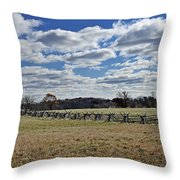 Gettysburg Battlefield - Pennsylvania Throw Pillow by Brendan Reals