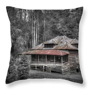 Ghost In The Window Throw Pillow by Debra and Dave Vanderlaan