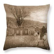 Ghost Town #2 Throw Pillow by Betty LaRue