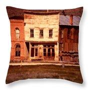 Ghost Town Bodie California Throw Pillow by Dick Rowan