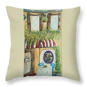 Gianni's Bistro Throw Pillow by Eloise Schneider