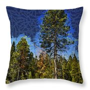 Giant Abstract Tree Throw Pillow by Barbara Snyder