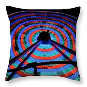 Giant Wheel Throw Pillow by Mark Miller