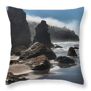 Giants Of Trinidad Throw Pillow by Adam Jewell