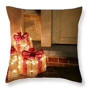Gift Of Lights Throw Pillow by Olivier Le Queinec