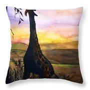 Giraffe Throw Pillow by Laneea Tolley