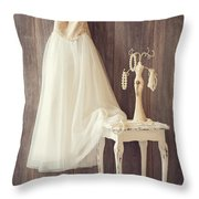 Girl's Bedroom Throw Pillow by Amanda Elwell