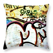 Girls Tag Too Throw Pillow by Trever Miller