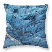 Glacier Blue Throw Pillow by Jon Glaser
