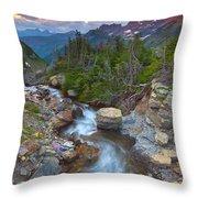Glaciers Wild Throw Pillow by Darren  White