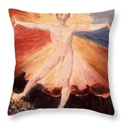 Glad Day Or The Dance Of Albion Throw Pillow by William Blake