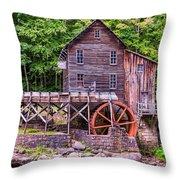 Glade Creek Grist Mill Throw Pillow by Steve Harrington